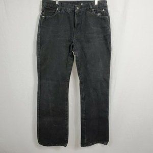 Harley Davidson Jeans Womens 33x31 12R Bootcut High Rise Cotton Faded Black